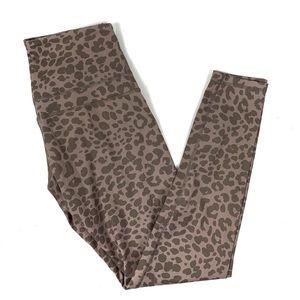 Varley Biona Tight Leggings in Blush Leopard